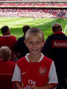 Eliott Kinsella - Arsenal v Villa - Aug 07