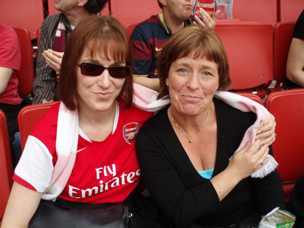 Niki & our Member Monica from Sweden - Everton - Home - May 2008