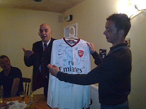 David Hillier & Signed Shirt by Joe Curtis