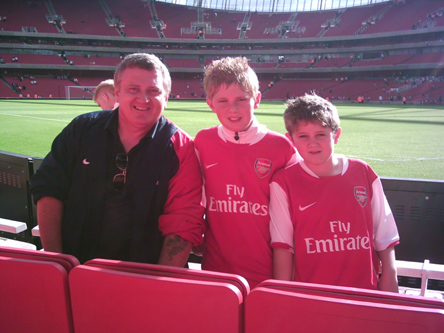 The wonderful Morris Family - Arsenal v Villa