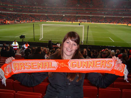 Dutch Member Wilmine Visits the Emirates - Middlesbro (H) - March 2008